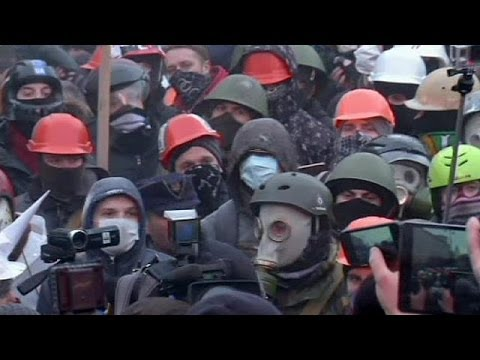 Protesters clash with police at large Ukraine rally - no comment