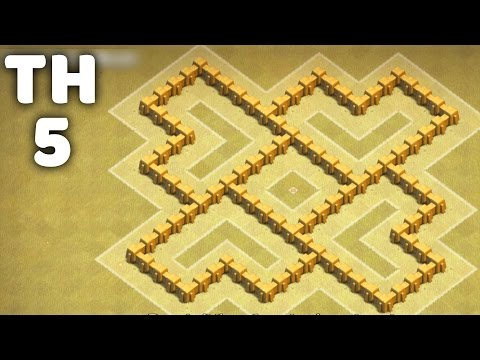 Town Hall 5 War Base ⏺ Best Defense Strategy ⏺ Clash of Clans (CoC TH5)