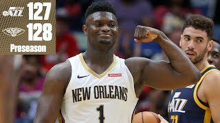 Zion drops 26 points vs. the Jazz and buries a 3-pointer in the Pelicans' win | 2019 NBA Highlights