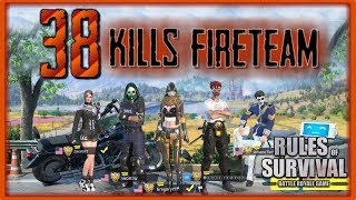 38 KILL *CRAZY* FIRETEAM GAME  // Rules of Survival