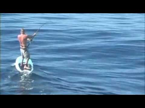 World s 1st Stand-Up Paddle Striped Marlin Catch- The REAL Ultimate Extreme Fishing;)