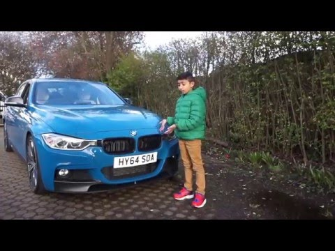 Laguna Seca Blue BMW 3 Series 2014 Review By 8 Year Old Yusuf