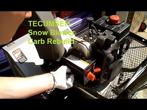 Tecumseh Carb snowblower cleaning 1 of 2