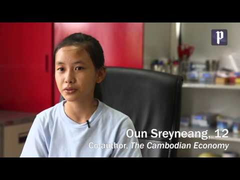 """Student authors discuss their book """"The Cambodian Economy"""""""