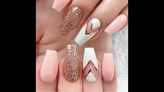 Nail art with glitters ❤️