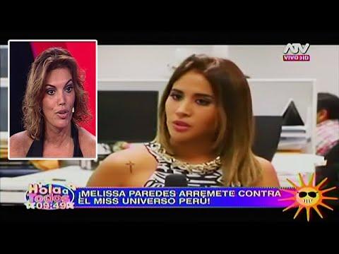 HOLA A TODOS 29/02/16 MELISSA PAREDES ARREMETE CONTRA JESSICA NEWTON POR LAS CANDIDATAS AL MISS PERÚ