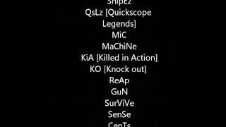 Play - Good-cod-names-or-gamertags
