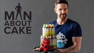 Bloated Monster Rainbow Cake | Man About Cake Halloween Miniseries
