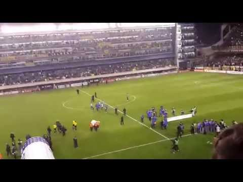 recibimiento Boca vs central copa sudamericana vista platea media