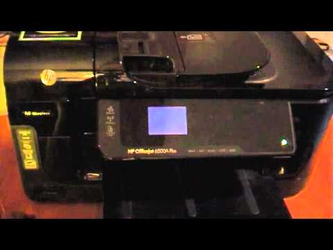 HP OfficeJet 6500A Plus Service and Reset Menu