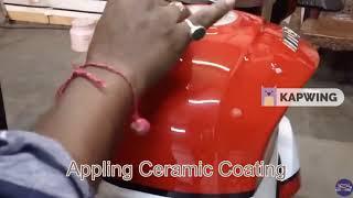 MAHINDRA MOJO CERAMIC COATING PROCESS AT ELITE CAR STUDIO IN MIRA ROAD