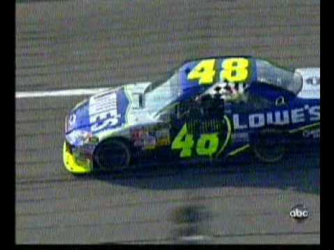 Jimmie Jonson and Carl Edwards Battle for Finish Kansas 2008