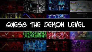 Geometry Dash Demon Quiz (Guess The Demon Level)