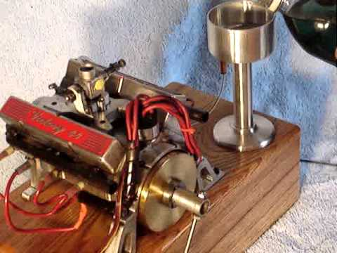 World's Smallest running v8 engine