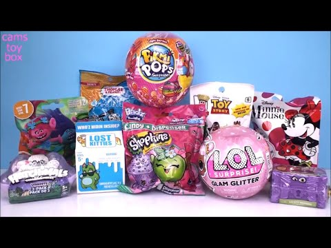PIKMI POPS LOL GLAM Glitter Surprise Dolls Lost Kitties Trolls Blind Bags Toys Unboxing FUN