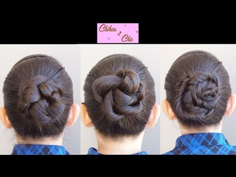 Recogidos peinados con trenzas faciles y lindos 3 braided buns