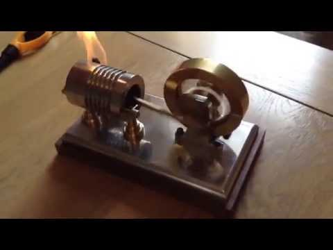 Hand built Flame licker engine. vacuum engine Jan Ridders design