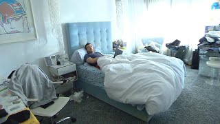 Man Suffering from the Flu Being Kept in Isolation from Family