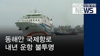 R) 동해안 국제항로, 내년 운항 불투명
