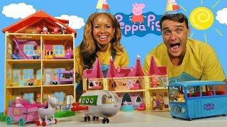 Peppa Pigs Giant Toy City ! || Toy Review || Konas2002