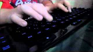 Logitech G110 Keyboard Typing