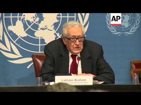 UN-Arab League's Syria envoy Lakhdar Brahimi comments on preparations for Syria talks