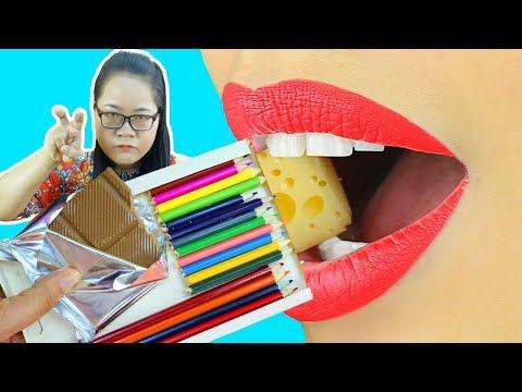 KHI HỌC SINH BÁ ĐẠO ĂN VỤNG TRONG LỚP HỌC ! Funny School Pranks | pranks funny