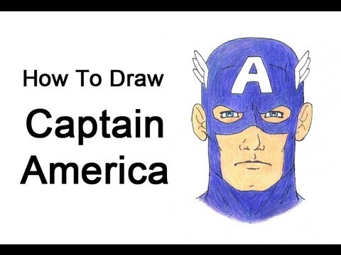captain america how to draw on youtube
