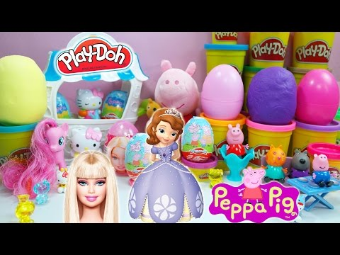 Barbie Kinder Surprise Eggs Peppa Pig Tom And Jerry Play Doh Mickey Mouse video