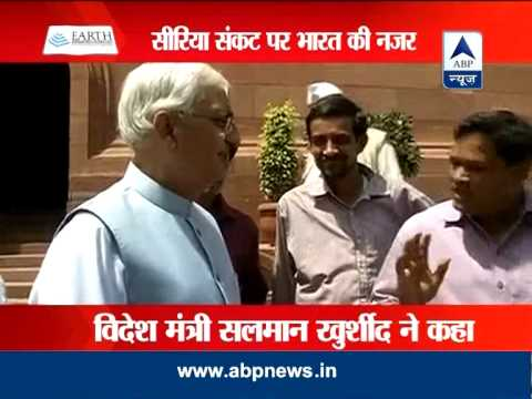 We are in touch with Indian embassy in Syria: Salman Khurshid