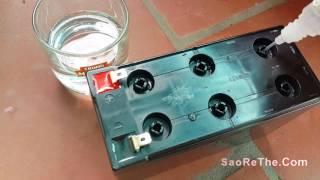 Cách phục hồi ắc quy cũ hỏng - repair recovery acid ac quy