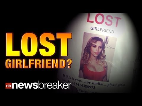 LOST GIRLFRIEND: Man's Ad for Missing GF Featuring Scarlett Johansson Goes Viral