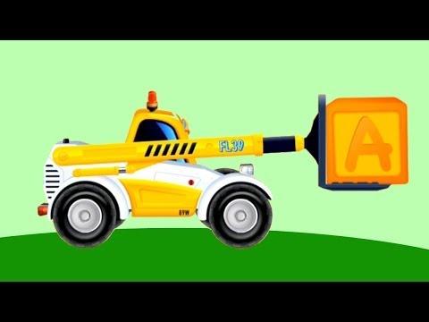 Мультфильмы про машинки - телескопический погрузчик - рабочие машины