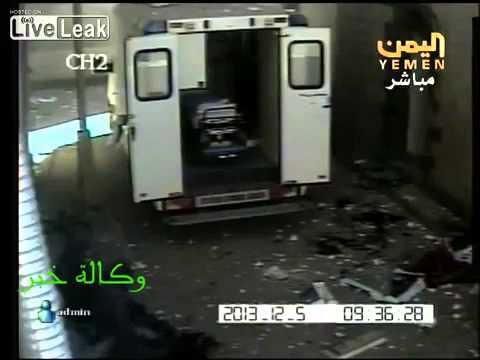 RAW FOOTAGE: Terrorist Attack on The Yemeni Military Hospital