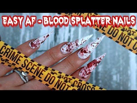 EASY BLOOD NAILS | HALLOWEEN NAIL TUTORIAL