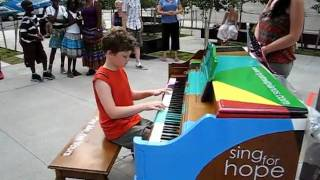 Nick is playing Fur Elise at Lincoln Center Piano1