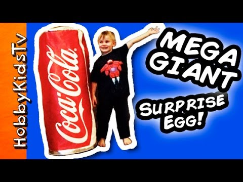 Worlds BIGGEST Coca COLA Surprise Egg! Toys Disney. Minion. Superheroes HobbyKidsTV