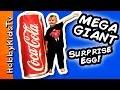 Worlds BIGGEST Coca COLA Surprise Egg! Toys Disney, Minion, Superheroes HobbyKidsTV