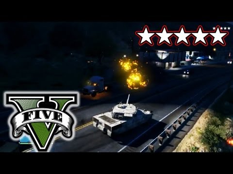 GTA 5 Live Stream - Tank Rampage! - Destroying The Military Base