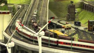 HO scale Germany, fire fighting, trains, Miniatur Wunderland, Hamburg 17 JAN 2014 part 3 of 3
