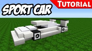 Minecraft: Easy Sport - Race Car Tutorial [ Bugatti Veyron Style ] how to make a car 1.8