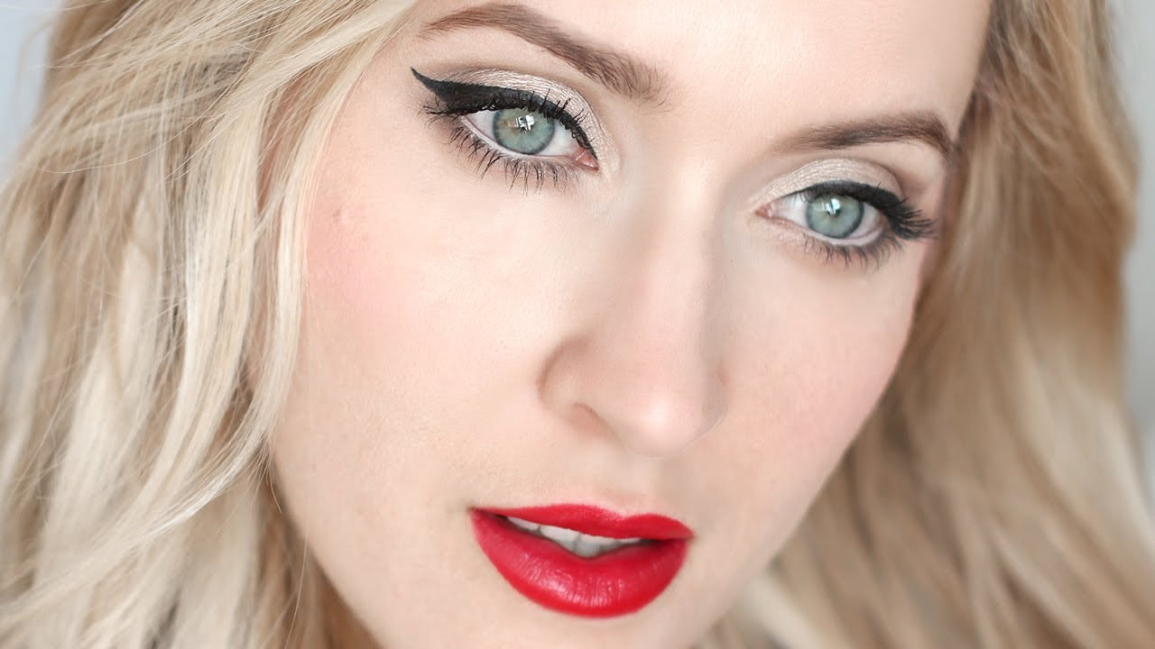 Pin Up Makeup Tutorial For Blondes And Brunettes Youtube