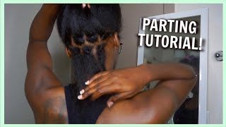 How To Part Hair for Box Braids, Passion Twists, etc | RUBBER BAND METHOD