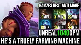 Ramzes [Anti Mage] This Hero is 100% Truely a Farming Machine 1040GPM 20KIlls 7.20 Crazy Game Dota 2