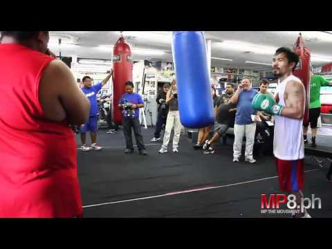 Manny Pacquiao - Thunder and Lightening on the Heavy Bag Image 1