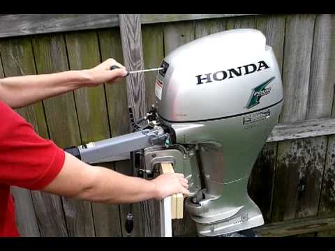 How to make your honda outboard motor idle good again for Honda outboard motors price