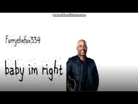 Darius Rucker - Baby Im Right