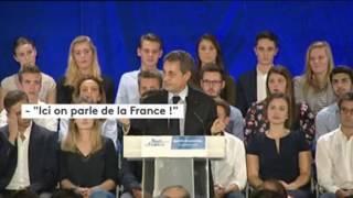 """Sarkozy va chercher Ali Bongo"" lancent des activistes gabonais à Nicolas Sarkozy en meeting"