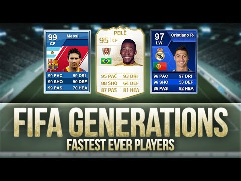 FIFA Generations | Fastest Ever Players! w/ Messi, Pelé & Ronaldo!