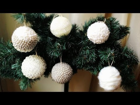 D.I.Y. hand made christmas decorations ❄ Palline di Natale decorate fai da te